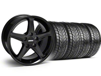 1995 Cobra R Style Black Wheel & NITTO Tire Kit - 17x9 (99-04)
