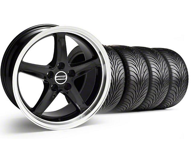 Staggered 1995 Cobra R Style Black Wheel & Sumitomo Tire Kit - 18x9/10 (99-04)