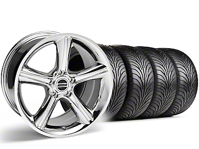 Staggered Chrome 2010 Style GT Premium Wheel & Sumitomo Tire Kit - 18x9/10 (99-04)