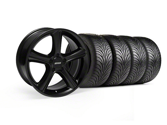 Staggered 2010 GT Premium Style Black Wheel & Sumitomo Tire Kit - 18x9/10 (99-04)