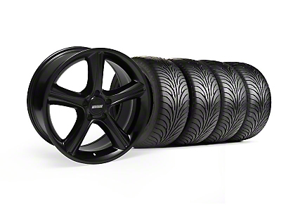 Staggered 2010 GT Premium Black Wheel & Sumitomo Tire Kit - 18x9/10 (99-04)