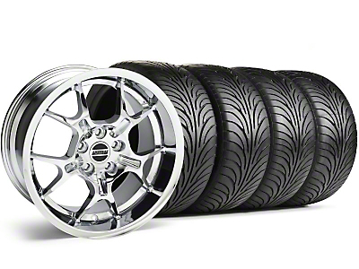 Staggered Chrome GT4 Wheel & Sumitomo Tire Kit - 18x9/10 (99-04)