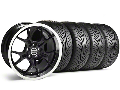 Staggered Black GT4 Wheel & Sumitomo Tire Kit - 18x9/10 (99-04)