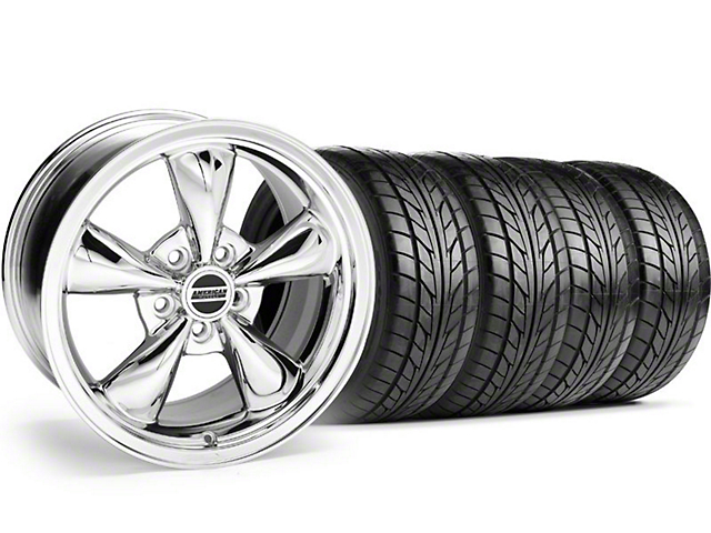 Bullitt Chrome Wheel & NITTO Tire Kit - 20x8.5 (05-14 V6; 05-10 GT)