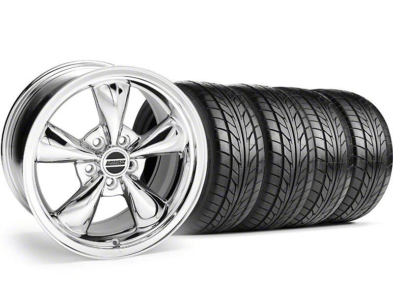 Bullitt Chrome Wheel & NITTO Tire Kit - 20x8.5 (05-14 V6; 05-10 GT)