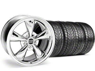 Staggered Bullitt Chrome Wheel & NITTO Tire Kit - 20x8.5/10 (05-14 V6; 05-10 GT)