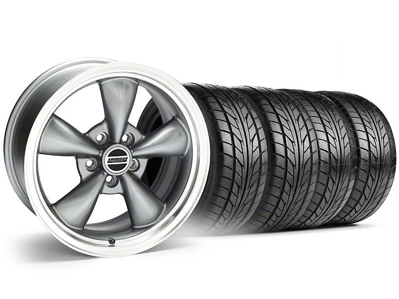 Bullitt Anthracite Wheel & NITTO Tire Kit - 20x8.5 (05-14 V6; 05-10 GT)