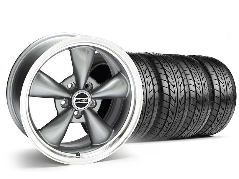 Staggered Bullitt Anthracite Wheel & NITTO Tire Kit - 20x8.5/10 (05-14 V6; 05-10 GT)