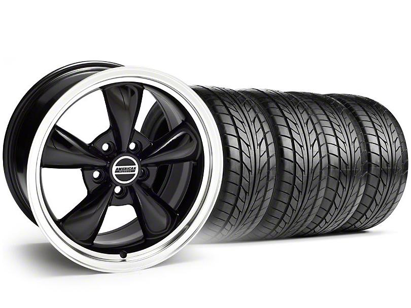 Bullitt Black Wheel & NITTO Tire Kit - 20x8.5 (05-14 V6; 05-10 GT)