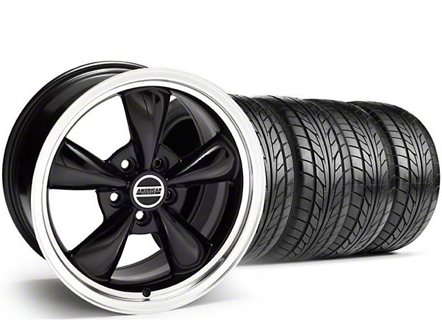 Staggered Bullitt Black Wheel & NITTO Tire Kit - 20x8.5/10 (05-14 V6; 05-10 GT)