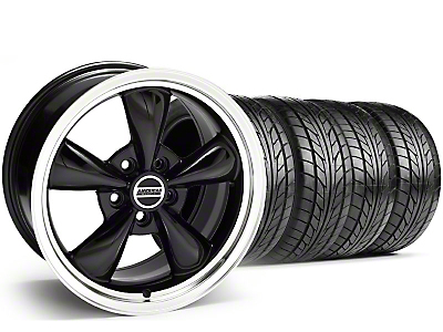 Staggered Black Bullitt Wheel & NITTO Tire Kit - 20x8.5/10 (05-14)