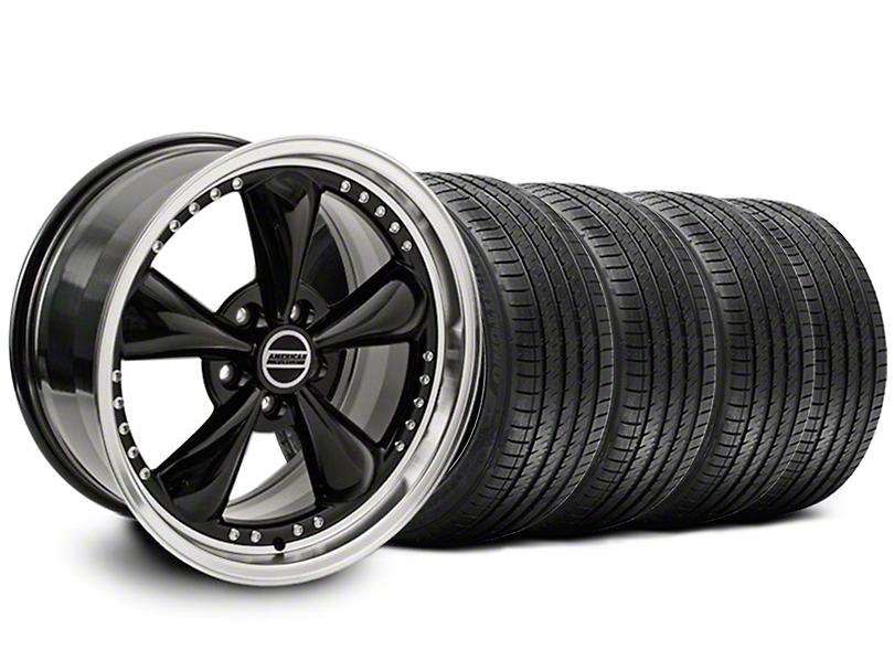 Bullitt Motorsport Black Wheel & Sumitomo Tire Kit - 18x9 (05-14 GT, V6)