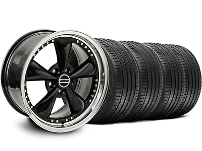 Bullitt Motorsport Black Wheel & Sumitomo Tire Kit - 18x9 (05-14 GT, V6)