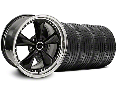 Staggered Bullitt Motorsport Black Wheel & Sumitomo Tire Kit - 18x9/10 (05-14 GT, V6)
