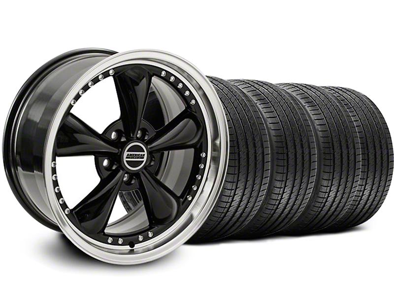 Staggered Bullitt Motorsport Black Wheel & Sumitomo Tire Kit - 18x9/10 (05-14 GT, V6)