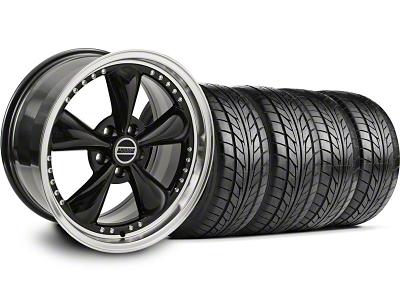 Bullitt Motorsport Black Wheel & NITTO Tire Kit - 20x8.5 (05-14 V6; 05-10 GT)