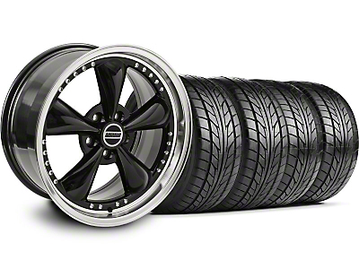 Bullitt Motorsport Black Wheel & NITTO Tire Kit - 20x8.5 (05-14 V6; 05-10 GT)