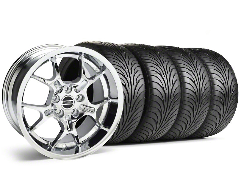 Staggered GT4 Chrome Wheel & Sumitomo Tire Kit - 18x9/10 (05-14)