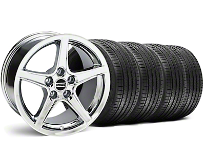 Saleen Chrome Wheel & Sumitomo Tire Kit - 18x9 (05-14 GT, V6)