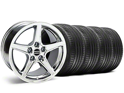 Staggered Saleen Chrome Wheel & Sumitomo Tire Kit - 18x9/10 (05-14 GT, V6)