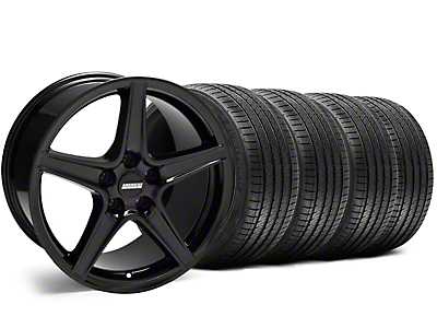 Saleen Style Black Wheel & Sumitomo Tire Kit - 18x9 (05-14 GT, V6)