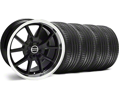 Staggered FR500 Style Black Wheel & Sumitomo Tire Kit - 18x9/10 (05-14)