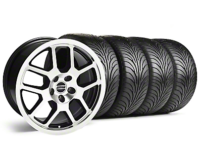 Black Machined 2007 Style GT500 Wheel & Sumitomo Tire Kit - 18x9.5 (05-14)