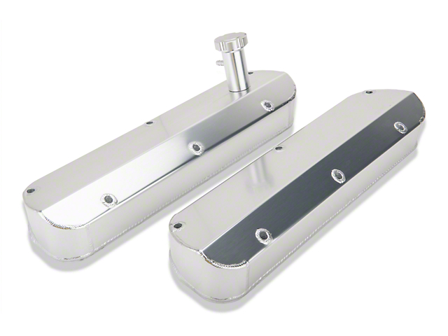 SR Performance Fabricated Aluminum Valve Covers - Clear Anodized (79-93 V8)