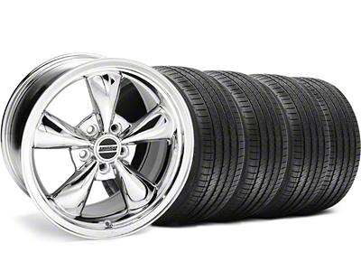 Staggered Bullitt Chrome Wheel & Sumitomo Tire Kit - 18x9/10 (99-04)