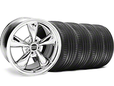 Staggered Bullitt Chrome Wheel & Sumitomo Tire Kit - 18x9/10 (99-04)