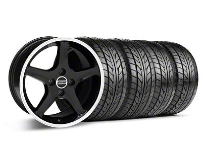 1995 Cobra R Style Black Wheel & NITTO Tire Kit - 17x8 (87-93; Excludes 93 Cobra)