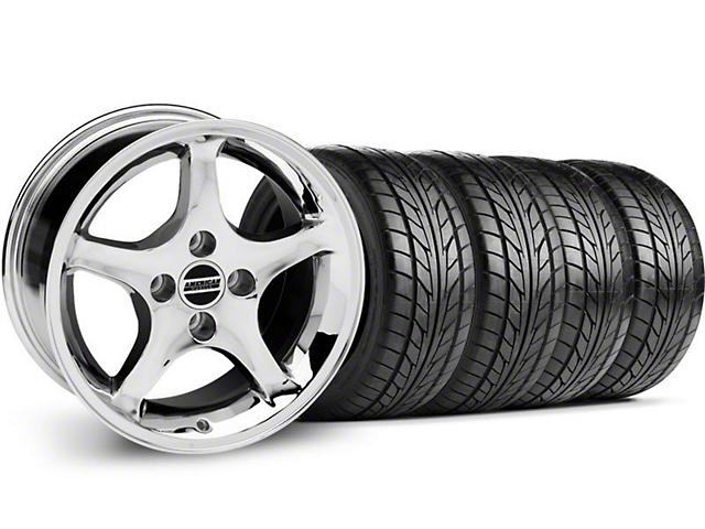 1995 Cobra R Style Chrome Wheel & NITTO Tire Kit - 17x8 (87-93; Excludes 93 Cobra)