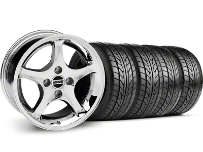 1995 Cobra R Style Chrome Wheel & NITTO Tire Kit - 17x9 (87-93; Excludes 93 Cobra)