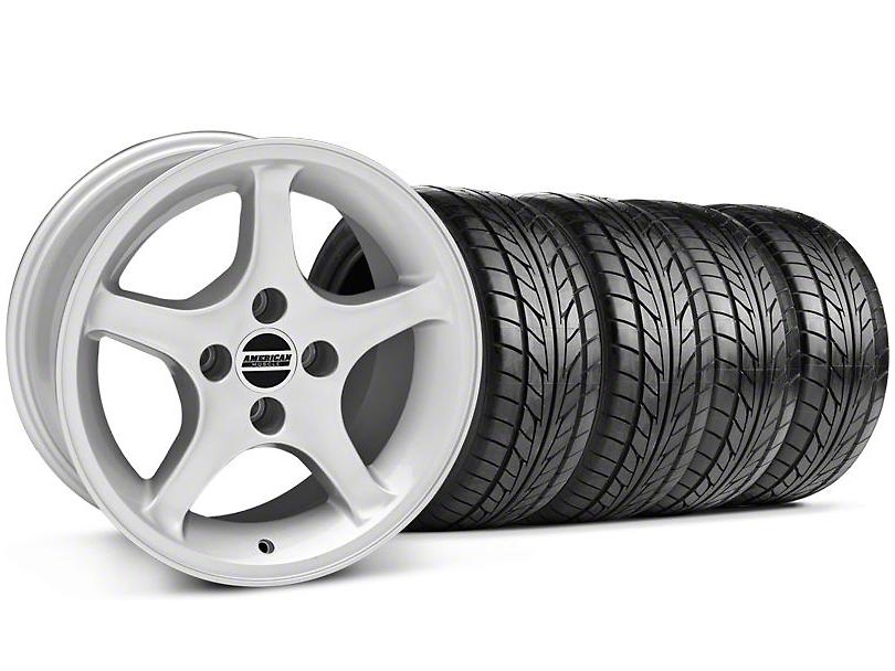1995 Cobra R Style Silver Wheel & NITTO Tire Kit - 17x8 (87-93; Excludes 93 Cobra)
