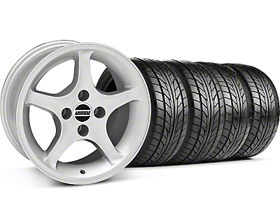 1995 Cobra R Silver Wheel & NITTO Tire Kit - 17x8 (87-93; Excludes 93 Cobra)
