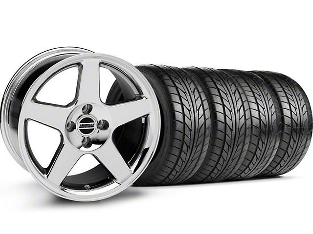 2003 Cobra Style Chrome Wheel & NITTO Tire Kit - 17x9 (87-93; Excludes 93 Cobra)