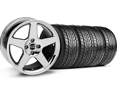 Chrome 2003 Style Cobra Wheel & NITTO Tire Kit - 17x9 (87-93; Excludes 93 Cobra)