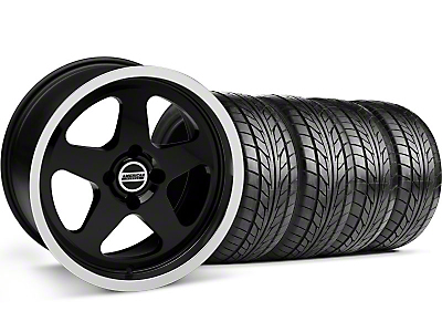 Black SC Style Wheel & NITTO Tire Kit - 17x8 (87-93; Excludes 93 Cobra)