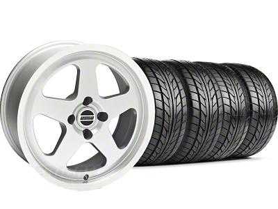 SC Style Silver Wheel & NITTO Tire Kit - 17x8 (87-93; Excludes 93 Cobra)