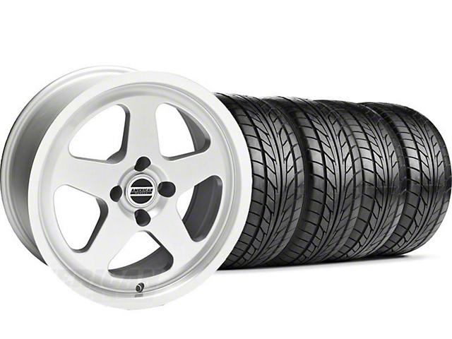 SC Style Silver Wheel & NITTO Tire Kit - 17x9 (87-93; Excludes 93 Cobra)