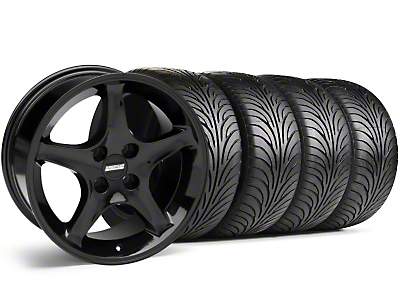 Black 1995 Style Cobra R Wheel & Sumitomo Tire Kit - 17x9 (87-93; Excludes 93 Cobra)