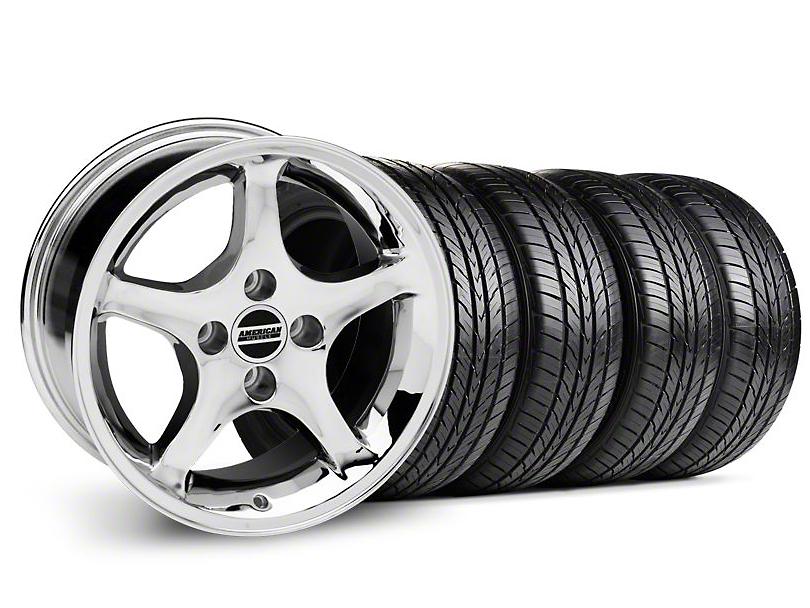 1995 Cobra R Style Chrome Wheel & Sumitomo Tire Kit - 16x8 (87-93; Excludes 93 Cobra)