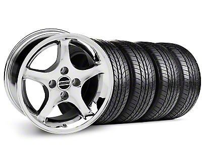 1995 Cobra R Chrome Wheel & Sumitomo Tire Kit - 16x8 (87-93; Excludes 93 Cobra)