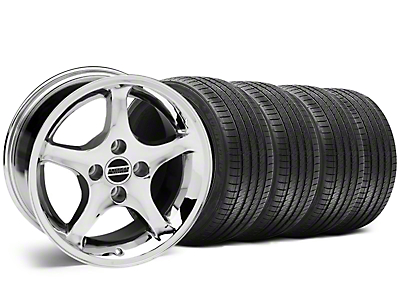 1995 Cobra R Style Chrome Wheel & Sumitomo Tire Kit - 17x8 (87-93; Excludes 93 Cobra)