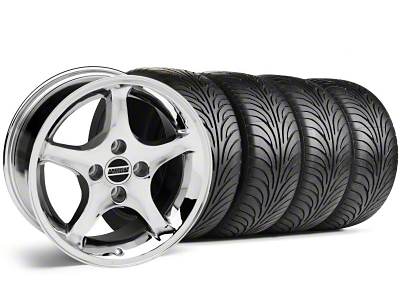 1995 Cobra R Style Chrome Wheel & Sumitomo Tire Kit - 17x9 (87-93; Excludes 93 Cobra)