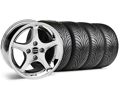 1995 Cobra R Chrome Wheel & Sumitomo Tire Kit - 17x9 (87-93; Excludes 93 Cobra)