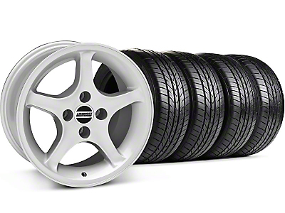1995 Cobra R Silver Wheel & Sumitomo Tire Kit - 16x8 (87-93; Excludes 93 Cobra)
