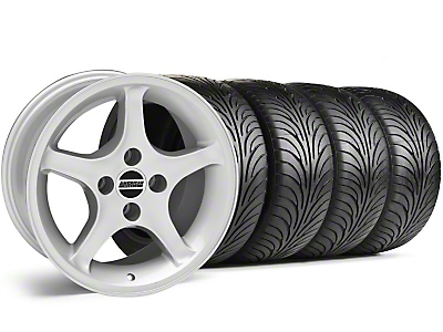 Silver 1995 Style Cobra R Wheel & Sumitomo Tire Kit - 17x8 (87-93; Excludes 93 Cobra)