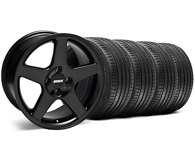 Black 2003 Style Cobra Wheel & Sumitomo Tire Kit - 17x9 (87-93; Excludes 93 Cobra)