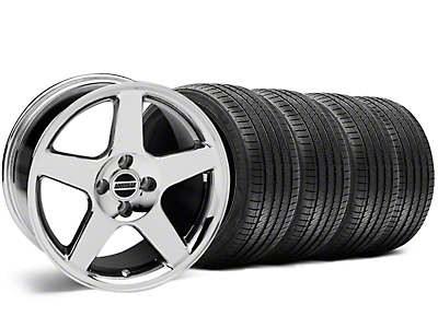 Chrome 2003 Style Cobra Wheel & Sumitomo Tire Kit - 17x9 (87-93; Excludes 93 Cobra)